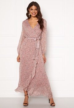 Sisters Point Gush Dress 845 Leo/Rose/Lurex Bubbleroom.se