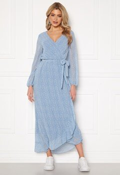 Sisters Point Gush Dress L.Blue/Leo Bubbleroom.se