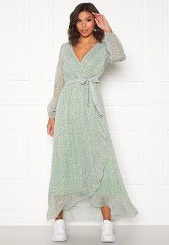 Sisters Point Gush Dress L.Khaki/Leo Bubbleroom.se