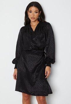 Sisters Point Irene Dress 800 Black/Leo bubbleroom.se