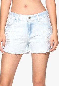 Sisters Point Mila shorts Light Blue Denim Bubbleroom.fi