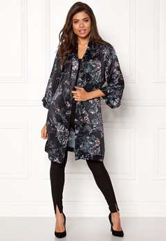 Sisters Point Nali-1 Cardigan 001 Black/Flower Bubbleroom.fi