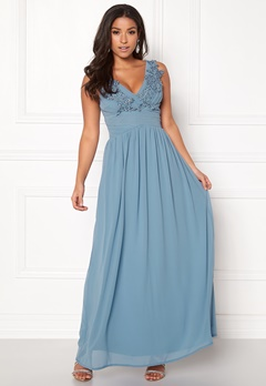 Sisters Point Nanny Long Dress 400 Dusty Blue Bubbleroom.fi