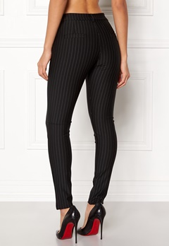 Sisters Point New George-5 Pants Black/Pinstripe Bubbleroom.fi