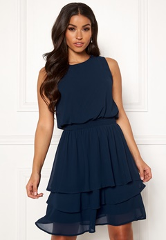 Sisters Point Nicoline Dress 440 Navy Bubbleroom.se