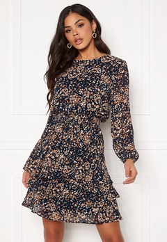 Sisters Point Nicoline Dress 441 Navy/Cacao Bubbleroom.se