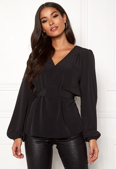 Sisters Point Nilla Blouse 000 Black Bubbleroom.se