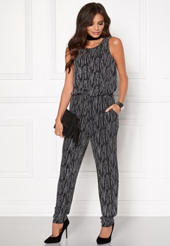 Sisters Point Nisa Jumpsuit 001 Blk/Silver Bubbleroom.se