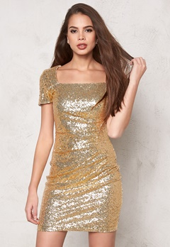 Sisters Point Noffi dress Gold Bubbleroom.se