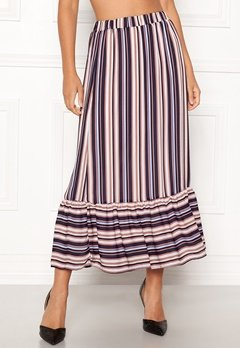 Sisters Point Varna Skirt 117 Cream/Blue strip Bubbleroom.se