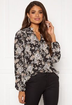 Sisters Point Vitka Blouse 813 Black/Pastel Bubbleroom.se
