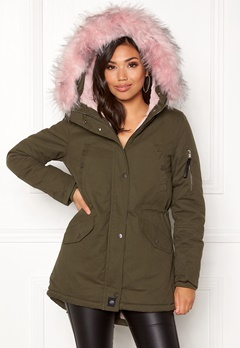 Sixth June Parkas Faux Fur Hood Jkt KABB Bubbleroom.se