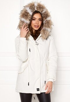 Sixth June Parkas Faux Fur Jacket White/Beige Bubbleroom.se