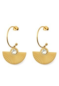 BY JOLIMA Skiathos Earring Pendant Gold Bubbleroom.se