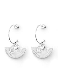 BY JOLIMA Skiathos Earring Pendant Silver Bubbleroom.se