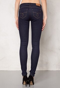 OBJECT Skinny Sally Rinse Jeans Dark Blue Denim Bubbleroom.se