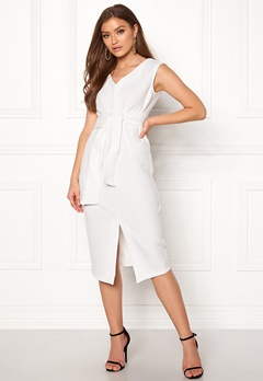 Closet London Sleeveless Midi Dress White Bubbleroom.se
