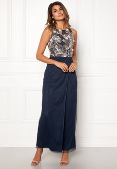 AngelEye Sleveless Sequin Dress Navy Bubbleroom.se
