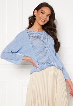 Jacqueline de Yong Smilla 3/4 Pullover Brunnera Blue Bubbleroom.se