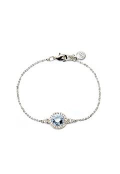 SNÖ of Sweden Lissy Chain Bracelet Silver/Sapphire Bubbleroom.se