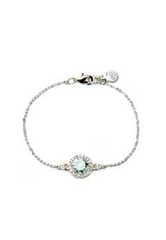 SNÖ of Sweden Lissy Chain Bracelet Silver/Light Aqua Bubbleroom.se