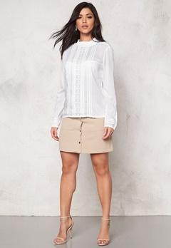 SOAKED IN LUXURY Boho Shirt Lily White Bubbleroom.se
