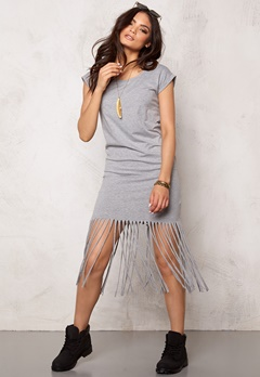 SOAKED IN LUXURY Leonora Dress Light Grey Melange Bubbleroom.se