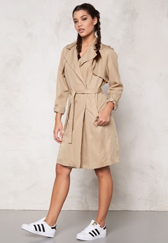 SOAKED IN LUXURY Perone Trench Coat Camel Bubbleroom.se