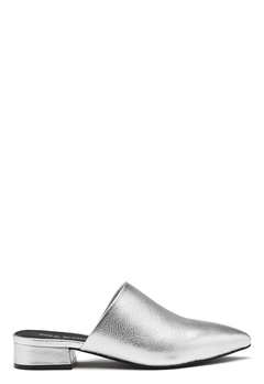 SOFIE SCHNOOR Leather Shoe Flat Silver Bubbleroom.se