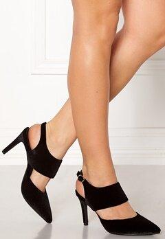 SOFIE SCHNOOR Shoe Open Stiletto Velvet Black Bubbleroom.se