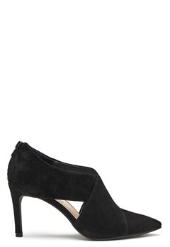 SOFIE SCHNOOR Suede Boot Open Stiletto Black Bubbleroom.se