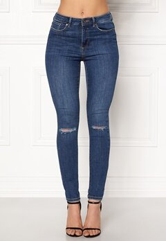 VERO MODA Sophia Hr Skinny Destroy Jeans Medium Blue Denim Bubbleroom.se