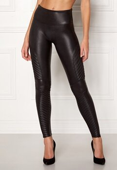 Spanx Moto Leggings Very Black Bubbleroom.se