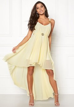 Ida Sjöstedt Stephanie Chiffon Dress Pale Yellow Bubbleroom.se