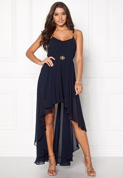 Ida Sjöstedt Stephanie Chiffon Dress Navy Bubbleroom.no