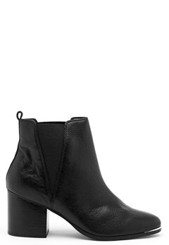 Steve Madden Flaknei Boot Black Leather Bubbleroom.no