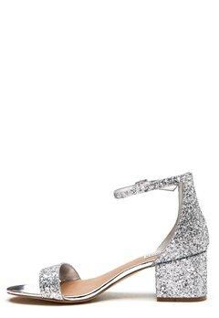 Steve Madden Irenee Sandal Silver Glitter Bubbleroom.no