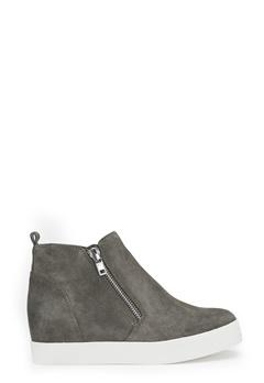 Steve Madden Wedgie Sneaker Shoes Grey Suede Bubbleroom.se