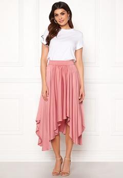 VILA Sulla Asymetric Skirt Brandied Apricot Bubbleroom.se
