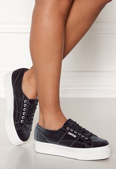 Superga Velvet Sneakers Grey Bubbleroom.no