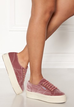 Superga Velvet Sneakers Pink Dusty Rose Bubbleroom.se