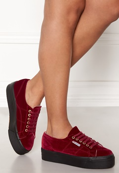 Superga Velvet Sneakers Red Bubbleroom.se