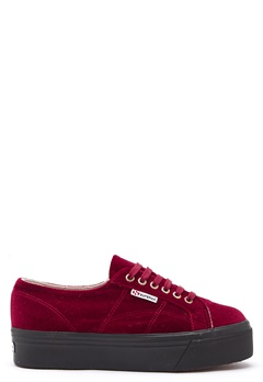 Superga Velvet Sneakers Red Bubbleroom.no