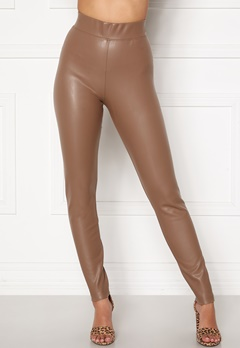 ONLY Superstar PU Leggings Walnut Bubbleroom.se