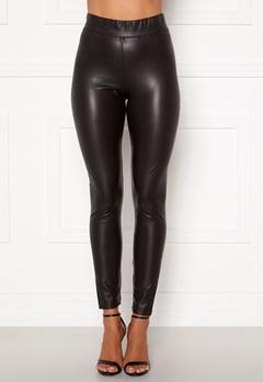 ONLY Superstar PU Leggings Black bubbleroom.se