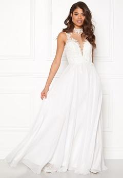SUSANNA RIVIERI Open Back Embroided Dress Ivory Bubbleroom.se