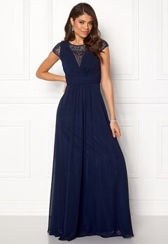 SUSANNA RIVIERI Ceremonial Dress Navy Bubbleroom.dk