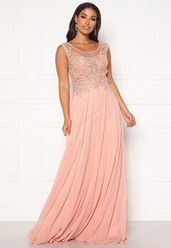SUSANNA RIVIERI Dream Chiffon Dress Blush bubbleroom.se