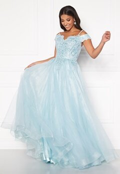 SUSANNA RIVIERI Elsa Prom Dress Ice Blue Bubbleroom.se