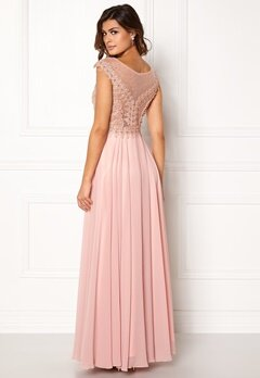 SUSANNA RIVIERI Embellished Beaded Dress Blush Bubbleroom.se